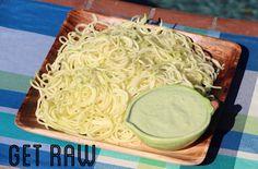 GET RAW Dinner-Pasta with Creamy Avocado Basil Sauce!