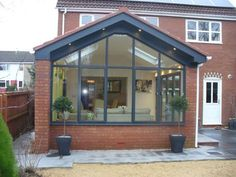 34 trendy ideas for exterior wall cladding porches House Extension Plans, House Extension Design, Glass Extension, Rear Extension, House Design, Extension Ideas, Porch Extension, Small Conservatory, Conservatory Extension