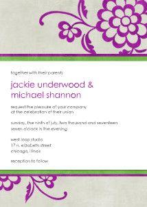 Mixbook Urban Floral Wedding Invitations