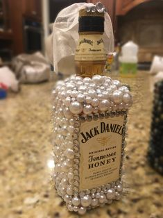 Bride and groom custom liquor bottles, Present for Bride and Groom, Custom Wedding Gift, Custom Wedding Centerpiece, One of a Kind Wedding Bedazzled Liquor Bottles, Decorated Liquor Bottles, Bling Bottles, Decorated Wine Glasses, Glitter Bottles, Glitter Wine, Alcohol Bottle Decorations, Liquor Bottle Crafts, Diy Bottle