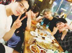 BTS's Jungkook met up with line' friends Cha Eun Woo, Mingyu, and Yugyeom once again.On July Jungkook shared the b… Namjoon, Hoseok, Taehyung, Jungkook Jeon, Yoongi, Youngjae, Got7 Yugyeom, Jung Kook, Jinyoung
