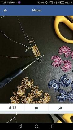 Best 11 carmen velazquez perez's 685 media content and analytics – DiyForYou – SkillOfKing. Hairpin Lace Crochet, Crochet Motif, Irish Crochet, Crochet Designs, Crochet Flowers, Crochet Stitches, Embroidery Stitches, Hand Embroidery, Crochet Slippers