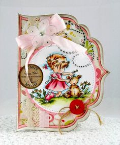 love this shaped card & beautiful coloring