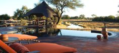 The Grand African Villa deck area, Okonjima, Namibia