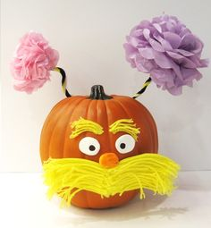 "Lorax Pumpkin with Truffala trees, was inspired by Dr. Seuss' ""The Lorax"""
