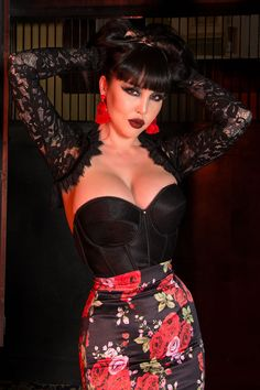 Backless Satin Longline Bra in Black | Pinup Girl Clothing