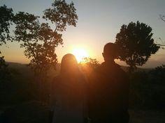 Siluet sunset  Bukit cinta, gunung gajah, bayat