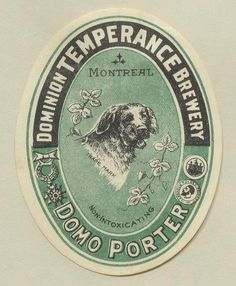 Domo Porter by Thomas Fisher Rare Book Library, via Flickr Leeds Pubs, Canadian Beer, Beer Memes, Coaster Art, Beer Coasters, Vintage Typography, Wine And Spirits, Label Design, Lettering Design
