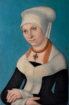 Portrait of Barbara, Duchess of Saxony, 1500-Lucas Cranach the Elder - by style - Northern Renaissance