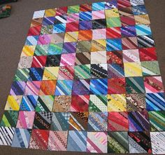 So pretty! String blocks are each their own color...then arrange the blocks as it strikes me!
