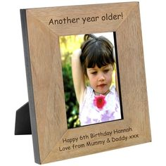 Engraved Another Year Older Wood Photo Frame - from Personalised Gifts Shop - ONLY Personalized Photo Frames, Personalised Gifts, Engraved Gifts, Fathers Day Gifts, Valentine Day Gifts, Man Gifts, Christmas Gifts, Another Year Older, Wood Photo