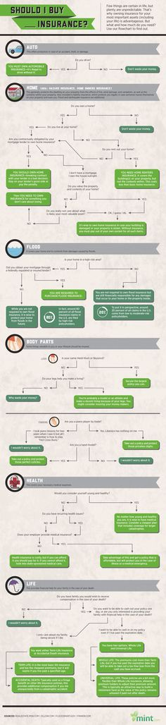 Should I Buy Insurance Infographic. Topic: personal finance