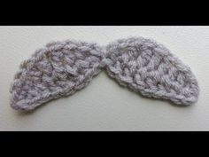 ▶ Wide Mustache Crochet Tutorial - YouTube