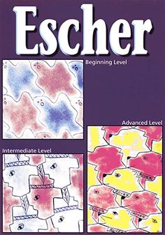Escher Art Projects for Kids:  Tessellations and the imaginative, geometric compositions of M. C. Escher are revealed to the students.  The children will create their own unique shapes and move them around the canvas to create their own tessellations which are stained with dry tempera.  Your students will discover an imaginary figure in their shapes and bring their compositions to life.