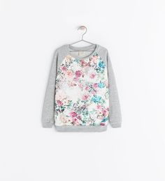 girls floral FRONT PRINT SWEATSHIRT from Zara but love this idea for myself.