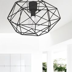 Diamond ceiling lamp from Globen Lighting by Patrick Hall Discount Furniture Stores, Furniture Online, Furniture Nyc, Furniture Dolly, Ceiling Lamp, Ceiling Lights, Guitar Wall Art, Small Diamond Rings, Black Diamond