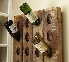 Youngsters Area Home Furnishings Decorative French Wine Riddling Rack, 21 X 57 At Pottery Barn Wine Bottle Wall, Empty Wine Bottles, Bottle Rack, Wine Bottle Holders, Wine Glass, Wine Wall, Glass Bottle, Bottle Display, Plate Display