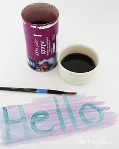 This DIY Invisible Ink is a great way to entertain your kids and have fun with household science. Kids will love making it and watching it disapear! It's so simple you probably have all the ingredients already in your cupboard! For more summer kids craft Preschool Science, Craft Activities For Kids, Science For Kids, Secret Agent Activities For Kids, Science Week, Science Party, Science Lessons, Summer Crafts For Kids, Summer Kids