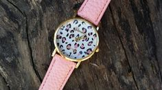 Check out this item in my Etsy shop https://www.etsy.com/listing/220559350/leopard-watch-pink-leopard-watch-pink