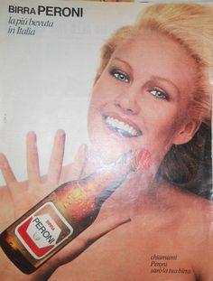Birra Peroni Pubblicità cm 31x24 ca  del 1978 RTG