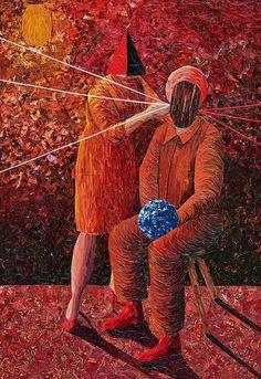 "Albin Talik ""Moment of inertia"" 100X70 cm paper and glue"