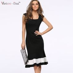 Aliexpress.com   Buy Women Summer Dress Style Stretch Patchwork Prom Ball  Party Formal Fishtail Sexy Dresses Bodycon High Waist Fishtail Vestido A703  from ... 433d5e7eae3e