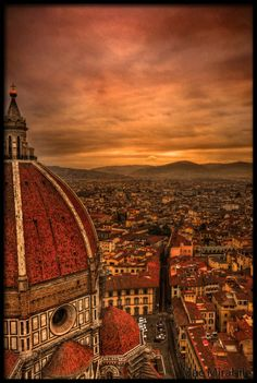 The Duomo in Florence. ~ been there.. it's amazing this view in real life~