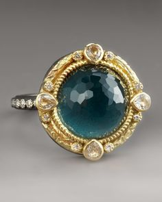 This makes my heart race, reminds me of Greece...and a ring I wear in my dreams.  Emily Armenta bloodstone ring.