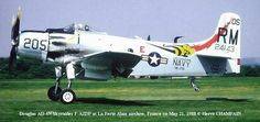 Douglas A-1 Skyraider - RM 205/USS Saratoga.  Not nose art, but hands down the best paint scheme of all of the Skyraiders.