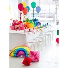 Inspiração super colorida : Arco-íris para animar nossas Olimpíadas.  www.mamaeachei.com.br  #muitoamor #Olimpiadas2016 #cores #festainfantil