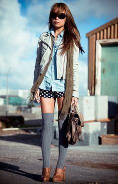 I love the high socks, but I think I would feel like a hooker if I wore them out... -sa