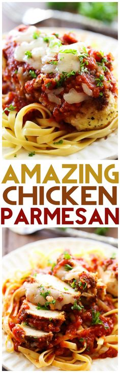 Chicken Parmesan... This recipe is simple and packed with yummy flavor! It is sure to be a hit with the entire family!