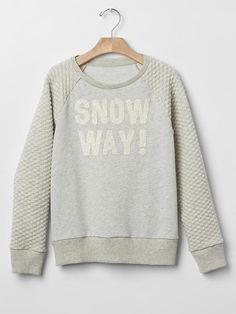 How fun is this Quilted Raglan Sweatshirt from Gap Kids?!
