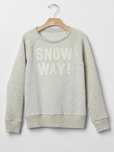 How fun is this Quilted Raglan Sweatshirt from Gap Kids?!