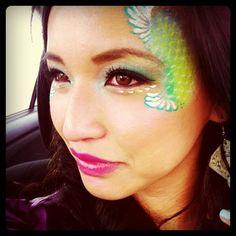 Mermaid Face paint 2
