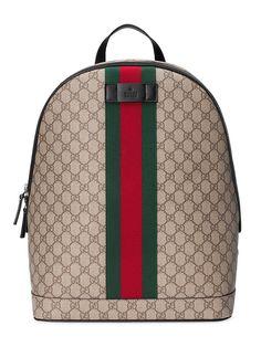 Shop Gucci GG Supreme backpack with Web. Supreme Backpack 23b98898f6658