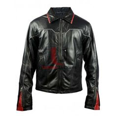 Black Fire Ring Racer Biker Mens Leather Jacket  Black Fire Ring Racer Biker Mens Leather Jacket is a smooth traction that is a great fit for all seasons. This jacket is combination of street style fashion and sports look. This attire is meant for the action enthusiasts and the adventure lovers. I
