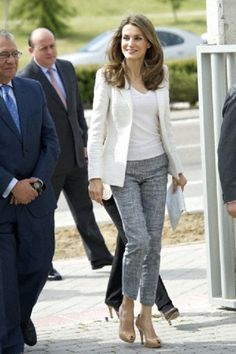 Princess Letizia of Spain attends the opening of the New Building of Aprocor Foundation for inclusion and opportunities for people with intellectual disabilities on 21 May 2013 in Madrid