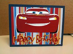 Lightning McQueen Disney Cards Birthday Card made with Cricut