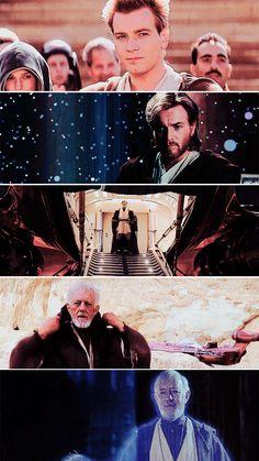 Obi Wan Kenobi: If you strike me down, I shall become more powerful than you could possibly imagine.   #starwars