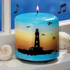 Candles- so cool for a bathroom or something like that