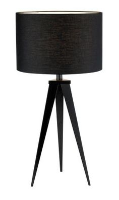 Adesso Director Director Table Lamp with Black Finish Black