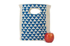 Fluf Lunch Bag - Organic Blue Triangle  #health #healthy #accessory #cotton #e $21.50 #organic #natural #ecofriendly #sustainaable #sustainthefuture
