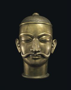 A large brass lingam cover in the form of a Head | INDIA, MAHARASHTRA, 18TH/19TH CENTURY | figure, bronze | Christie's
