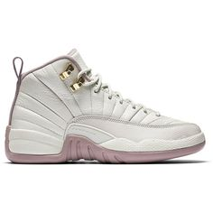 """Air Jordan 12 Retro GS Heiress """"Plum Fog"""" ❤ liked on Polyvore featuring shoes, jordans and sneakers"""