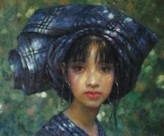 Dai Zhongguang (Chinese)  Under the Shade, oil on canvas.