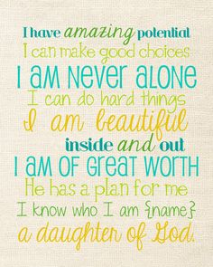 A Daughter of God--with Your Daughter's Name by mastomama on Etsy, $15.00 {custom colors optional}