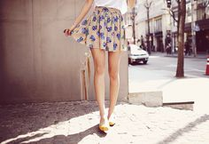 I love the skirt and shoes together