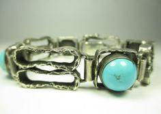 835-Silber-Armband-Tuerkis-Vintage-70er-Space-Age-Modernist-s1-N4