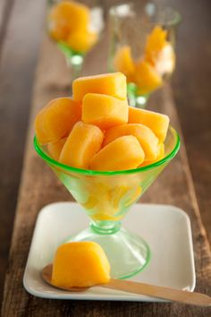 Peach Ice Cubes for Iced Tea